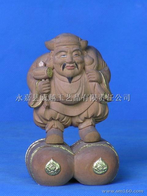 供应木雕日本佛像-大黑天