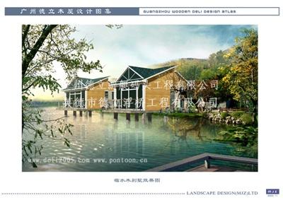 供应滨水景观木屋,临水木别墅,旅游度假木屋