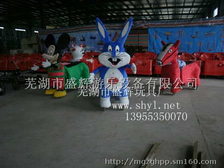 卡通动物游乐车喜羊羊充气游乐车喜羊羊充气电瓶车