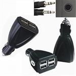 四個接口USB車載充電器,4端口USB車載充電器