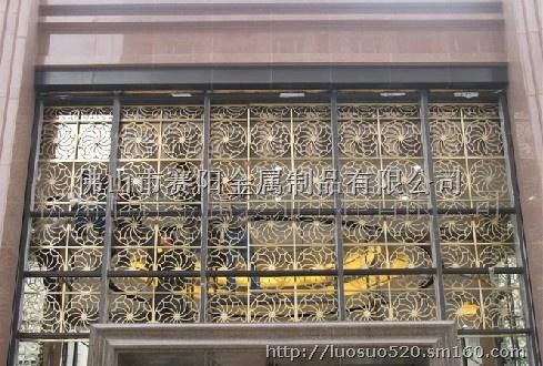 不锈钢酒店门头隔断屏风装饰不锈钢拼接花格屏风