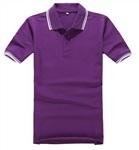 紫色POLO衫定制企業LOGO文化衫同學聚會T恤