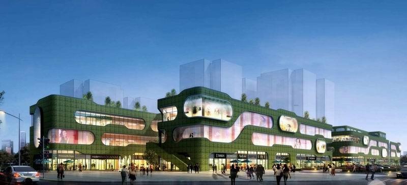 商场外墙装饰,商业建筑外立面,商场外墙装饰设计制作