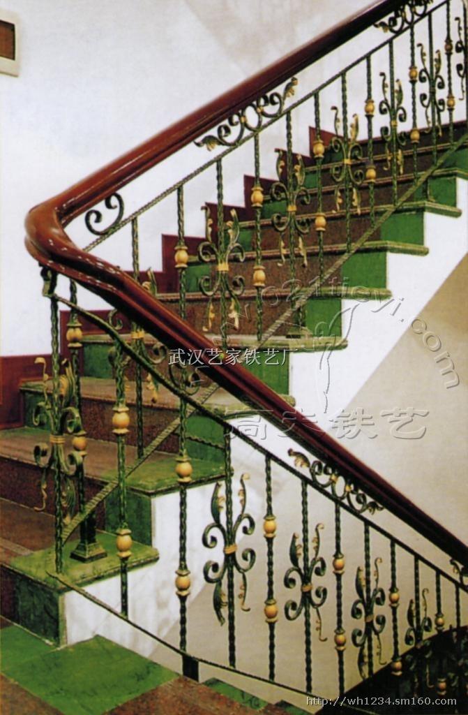 武汉艺家铁艺---欧式铁艺楼梯扶手