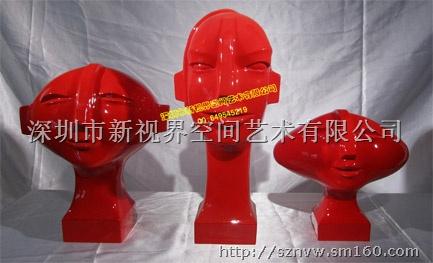 树脂雕塑,玻璃钢雕塑,酒店艺术配饰,别墅雕塑, 包装规格:泡沫纸内包