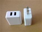 供應ROHS CE認證5V3.1A雙USB充電器