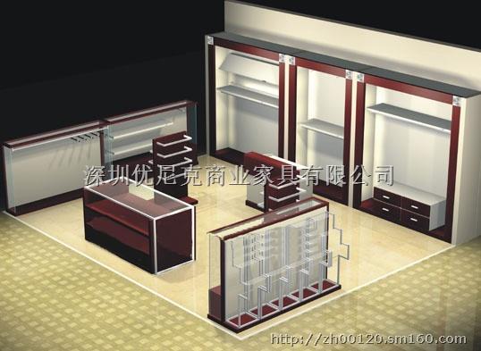 展柜,服装展示架保留现代与欧式的相融合的现实主义