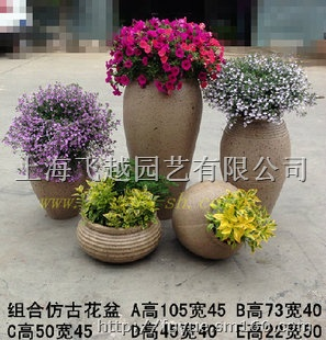 景观陶罐,欧式花盆,大理石色