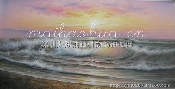 海浪油画是油画风景常见热卖题材,人们对海有着特别的喜爱,所以海浪