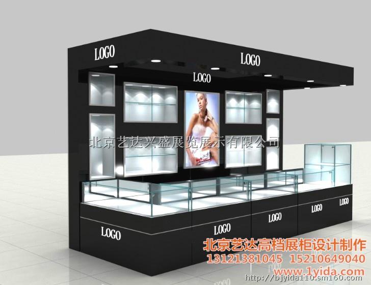 北京展柜制作菏泽周盛福水晶饰品展柜设计