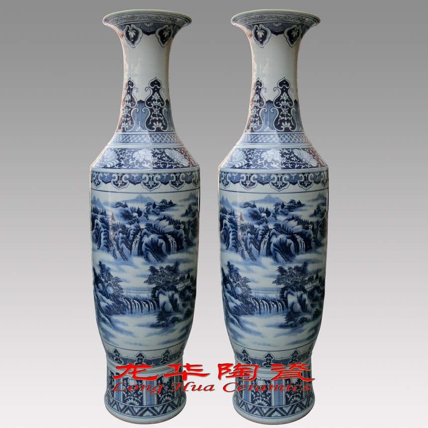 青花瓷大花瓶,景德镇瓷器大花瓶
