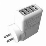 4个USB充电器5V2.1A转换插头4USB充电器