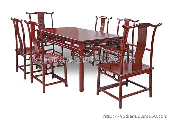 【精品小叶紫檀餐桌 红木餐桌餐椅】桌