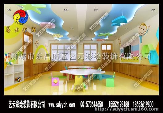商品名称:河南安阳汤阴安格堡室内墙体彩绘设计 自定义分类:幼儿园