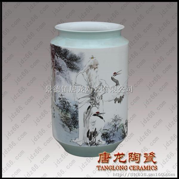 景德镇大师手绘陶瓷花瓶