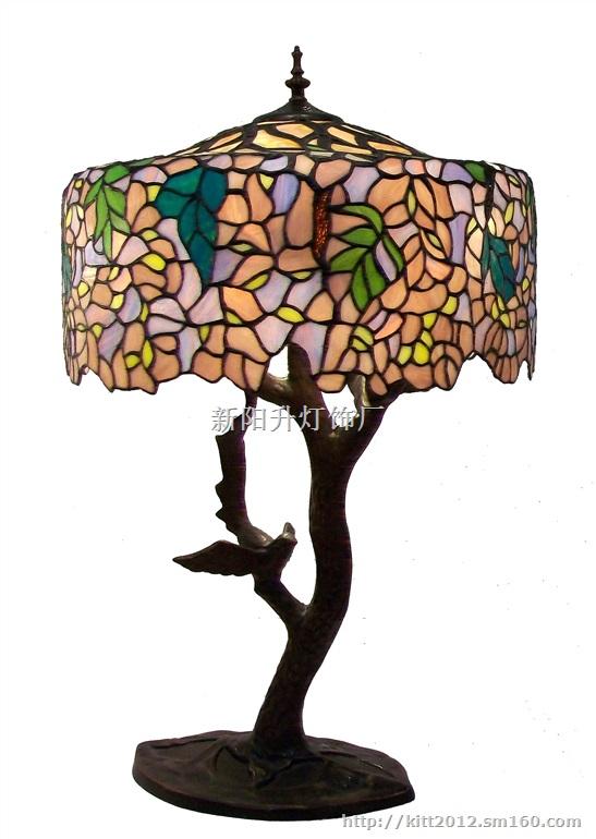 香港高档欧式玻璃仿古台灯批发