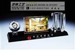 广州会议纪念品 水晶套件礼品 水晶办公摆件定制