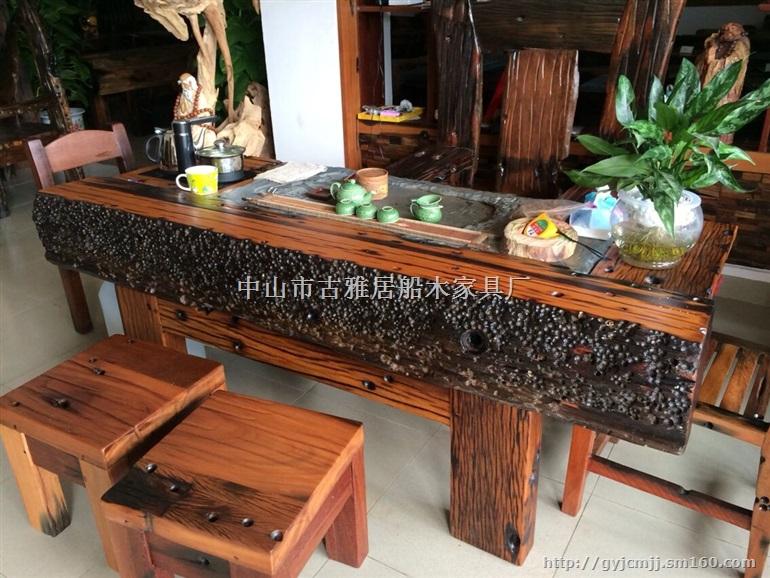 老船木中国风茶桌