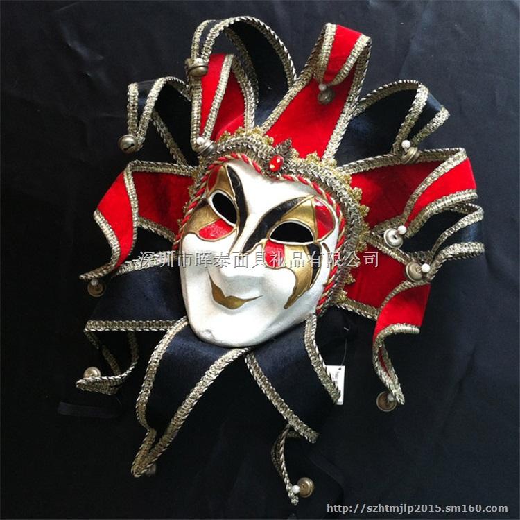 威尼斯面具手绘纸浆全脸