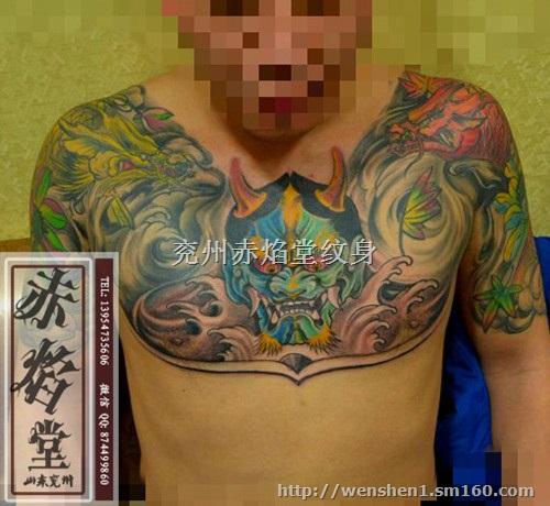 前胸纹身图案纹身价格