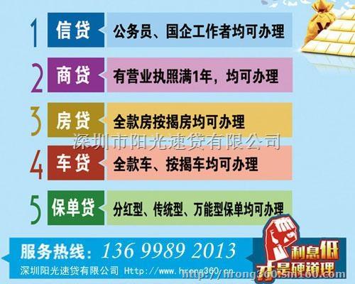 深圳房屋抵押贷款能贷多少年房产抵押贷款