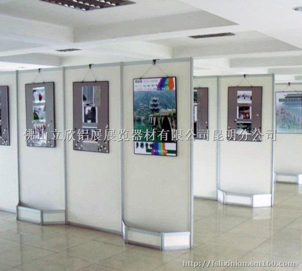 昆明书画作品展览八棱柱展板,广告摄影宣传展示架图片