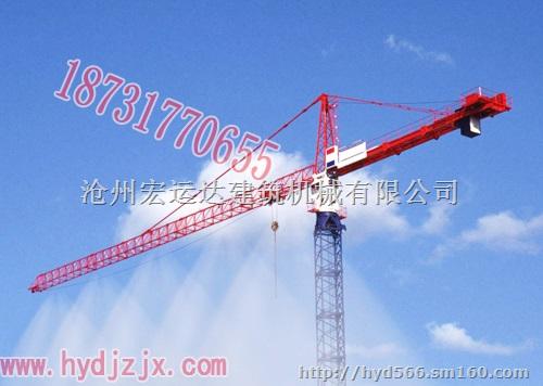 塔吊安装喷淋头系统,塔吊