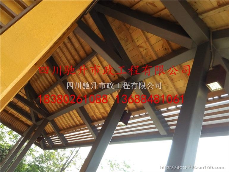 四川驰升专业承接钢架木纹漆,钢结构木纹漆,外墙木纹