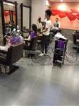 南京浦口理发店手绘墙画 墙体彩绘