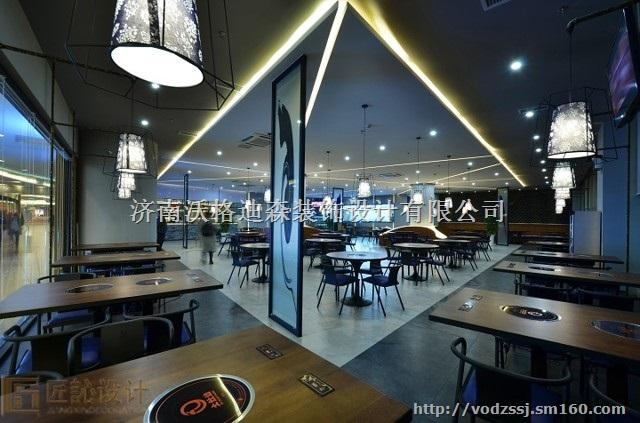 2017济南餐厅店面装修设计案例 免费量房/方案