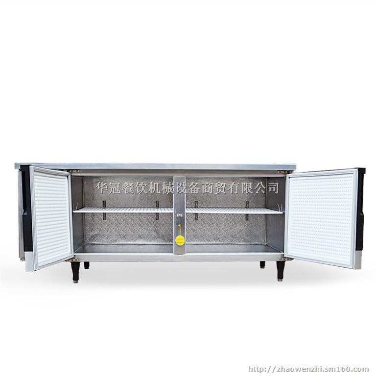 不锈钢保鲜操作台冷藏操作台冰箱卧式工作台冰柜图片
