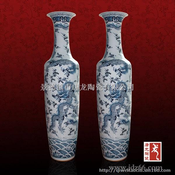 景德镇传统手工制作陶瓷大花瓶,陶瓷落地大花瓶