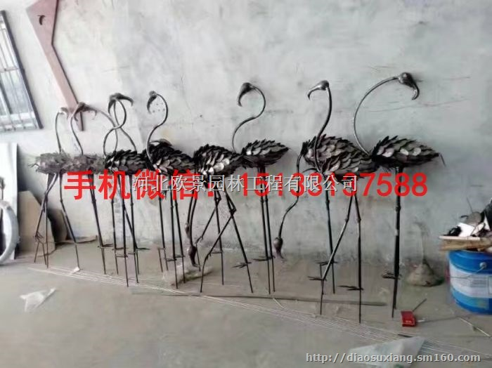 不锈钢仙鹤雕塑 公园仙鹤雕塑