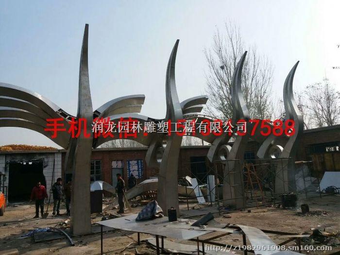 大型不锈钢仙鹤雕塑 鞍山不锈钢雕塑厂家
