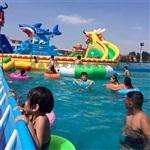 支架水池 支架游泳池 充气水池滑梯 水上乐园