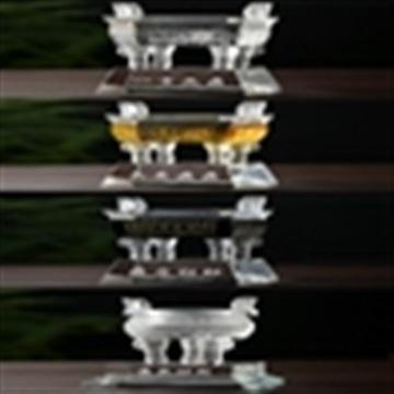 乔迁水晶鼎开业水晶礼品加工诚信金鼎批发定制水晶鼎摆