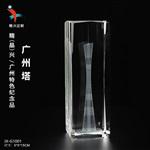 广州建筑内雕礼品,水晶内雕摆件,广州电视塔摆件