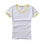 黃色撞邊圓領親子T恤(男女童裝)