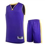 301紫色高端籃球服
