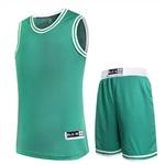 302綠色高端籃球服