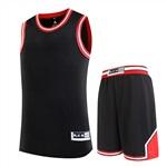 303黑紅籃球服