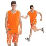 807橙色篮球服套装
