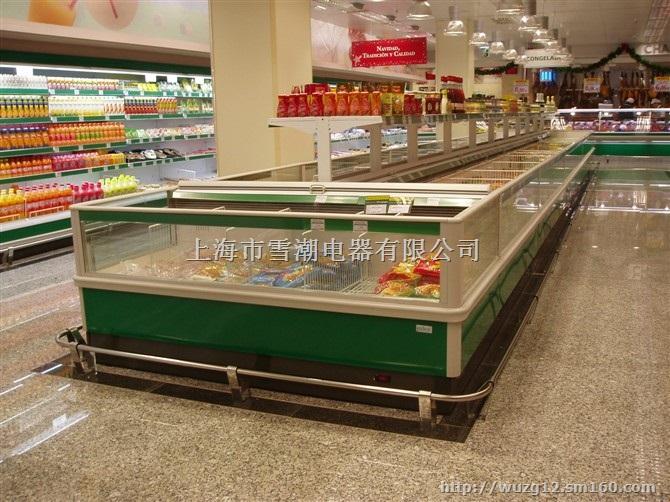 双出风岛柜冷冻岛柜超市冰柜大型冷柜
