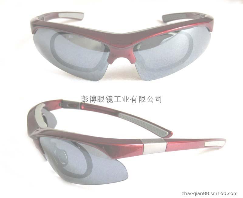 滑雪等户外运动的特点而专门设计的体育专用运动太阳眼镜,具有防风沙