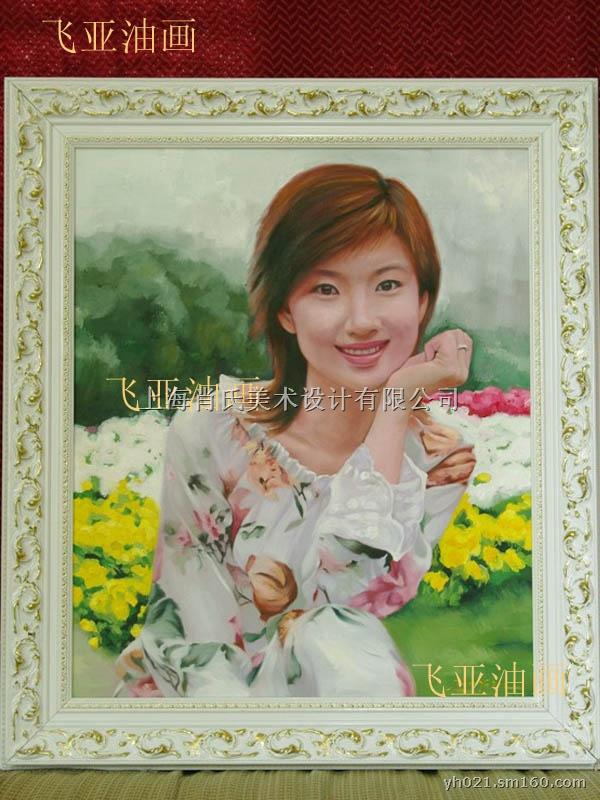 照片画成油画|纯手绘婚纱油画|肖像画
