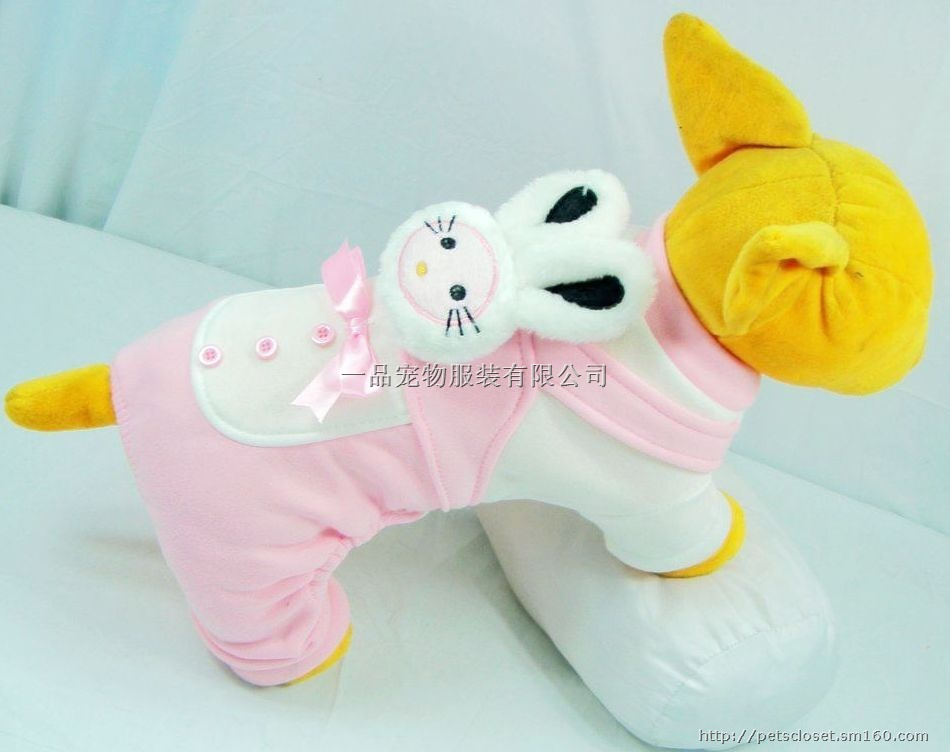 厂家直销宠物服装2011狗狗可爱粉色小兔头