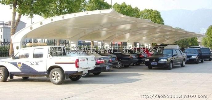 悬挑式豪华膜结构汽车雨棚