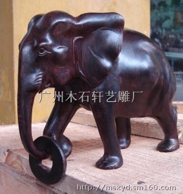 【木雕大象】木制工艺品批发价格,厂家,图片,采购- 市