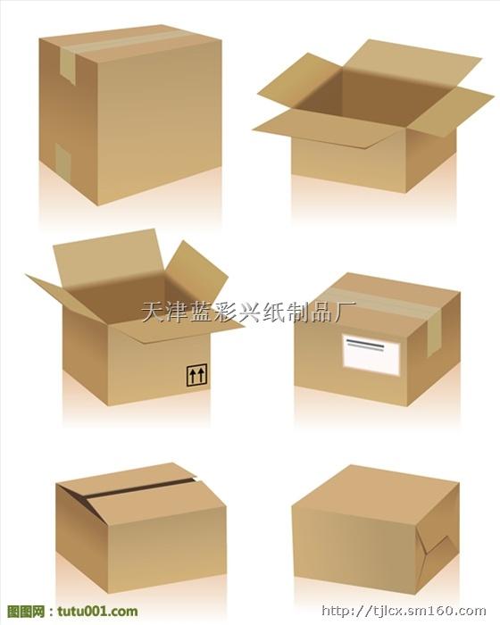 正方形纸箱图解