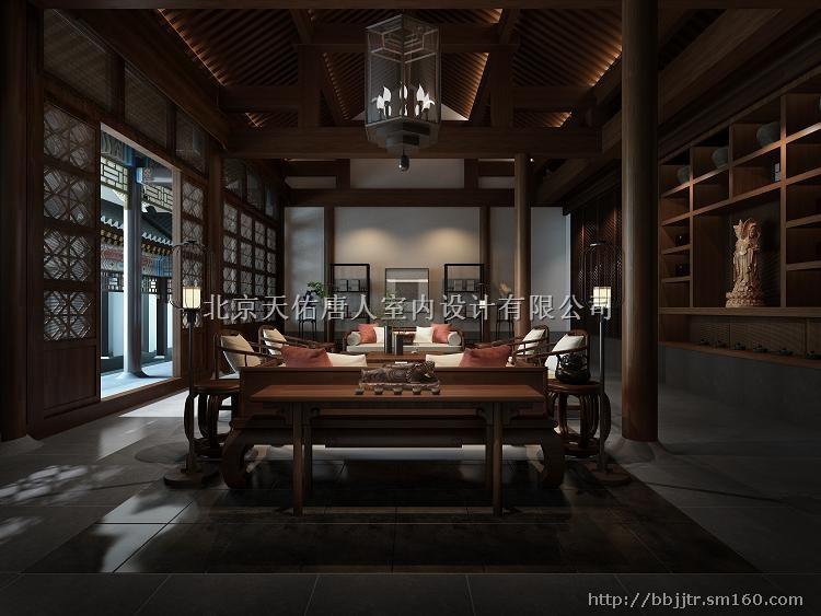 崇文新中式住宅/中式效果图, 选唐人室内设计让您领略中华古风之美!